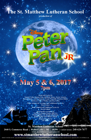 """Disney's Peter Pan Jr."" May 5 & 6, 2017"